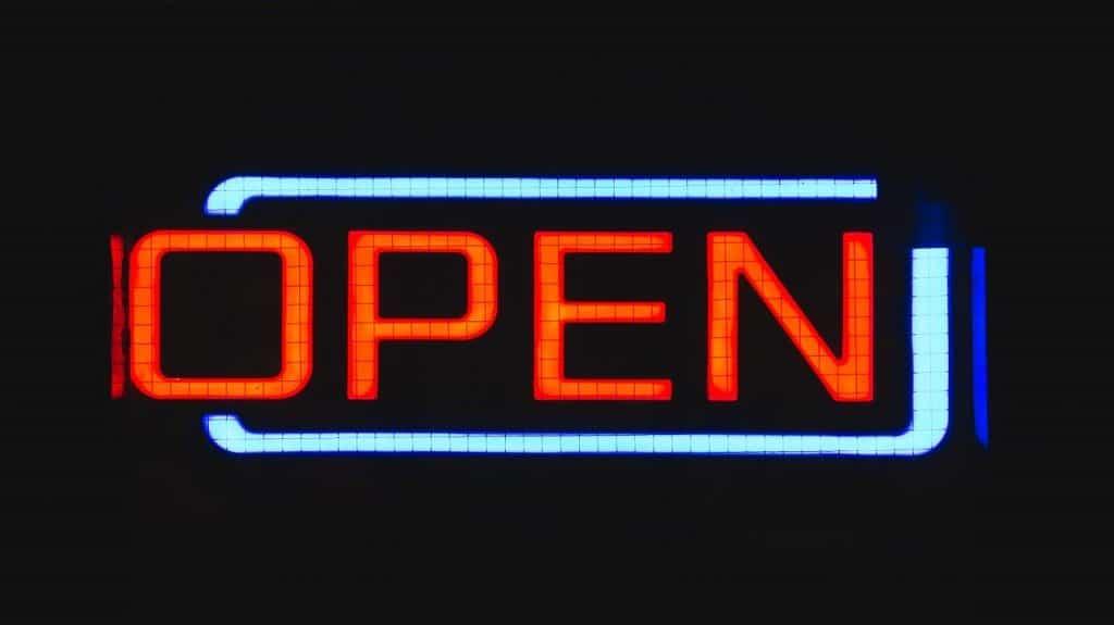 sign, open, neon